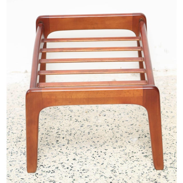 Folke Ohlsson Teak Foot Stool by Folke Ohlsson, Sweden, 1950s For Sale - Image 4 of 7