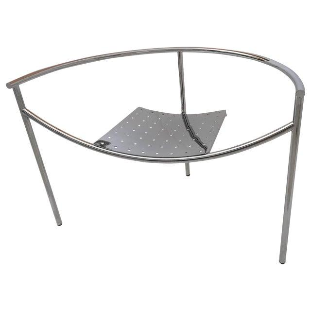 Vintage Mid Century Philippe Starck Doctor Sonderbar Chrome Chair For Sale