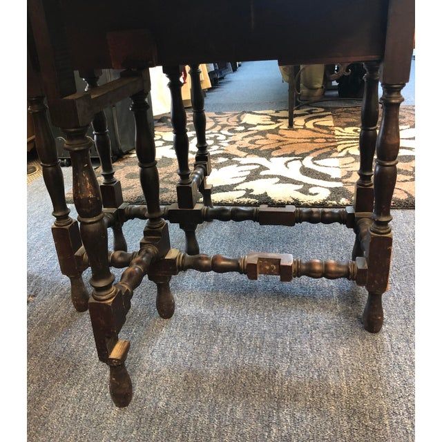 17th Century 17th Century Antique Jacobean Drop Leaf Table For Sale - Image 5 of 12