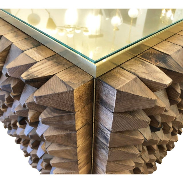 Organic Modern Wood Credenza by Interno 43 for Gaspare Asaro For Sale In New York - Image 6 of 8