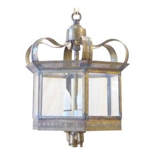 Vintage Traditional Brass Hall Lantern For Sale