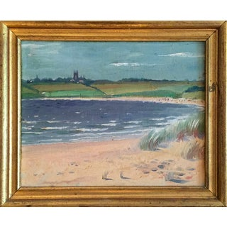 Oil Painting of St. George's School & Newport, Rhode Island Beaches For Sale