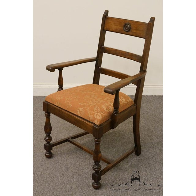 1940s Antique Walnut Dining Armchair For Sale - Image 4 of 8