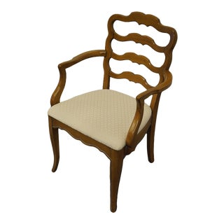 White of Mebane Country French Ladder Back Dining Arm Chair For Sale