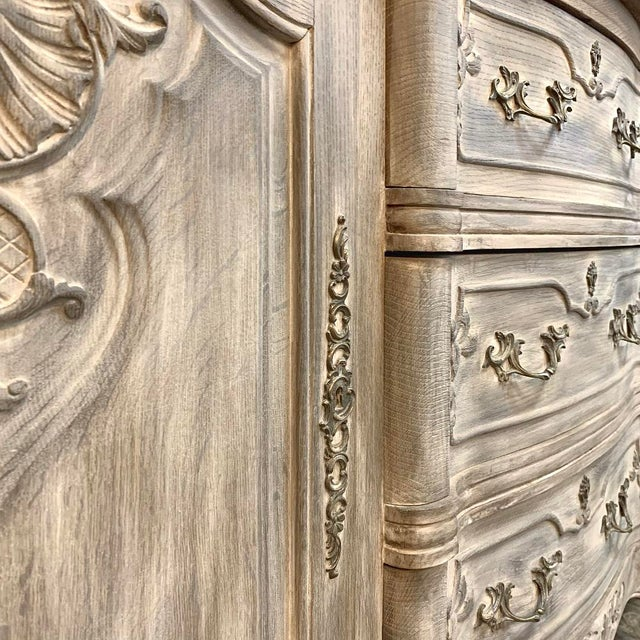 Antique French Louis XV Whitewashed Buffet For Sale - Image 12 of 13