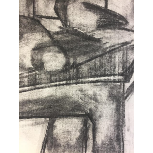 1950s 1950s Henry Woon Mid Century Charcoal Still Life For Sale - Image 5 of 7