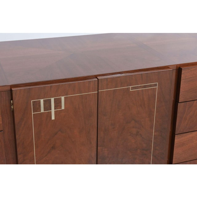 Metal Georg Kofoed Danish Modern Rosewood and Silver Inlaid Sideboard, 1950s For Sale - Image 7 of 9