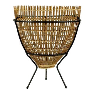 1950s Vintage Fish Trap Basket Table For Sale