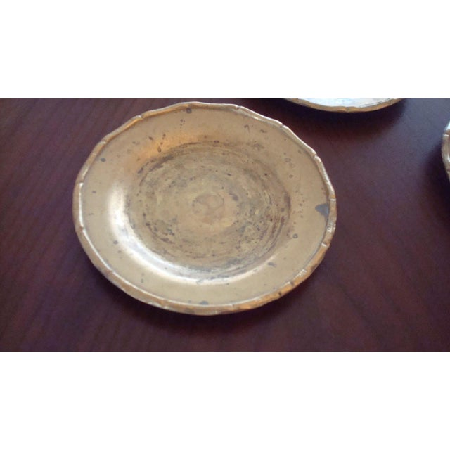 Vintage Brass Bamboo Style Coasters - Set of 6 - Image 4 of 6