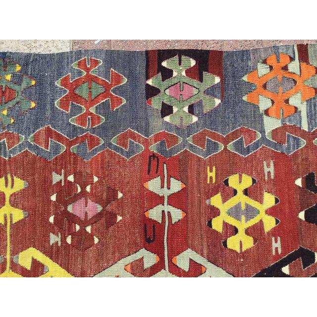 1960s Rustic Turkish Kilim Rug For Sale - Image 5 of 11