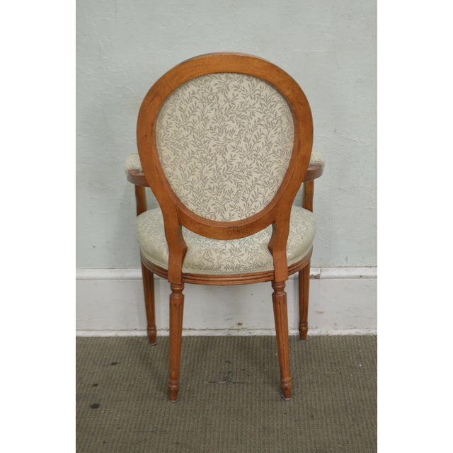 Statesville Chair Co. Set of 10 Walnut Frame French Louis XV Style Dining Chairs For Sale - Image 4 of 10