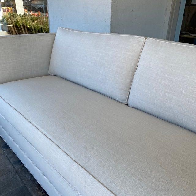 The MT Company New Miles Talbott Custom Landry Sofa + White Crypton Upholstery For Sale - Image 4 of 9
