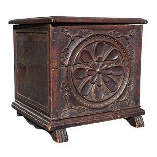Italian Baroque Walnut Coffer Fragment