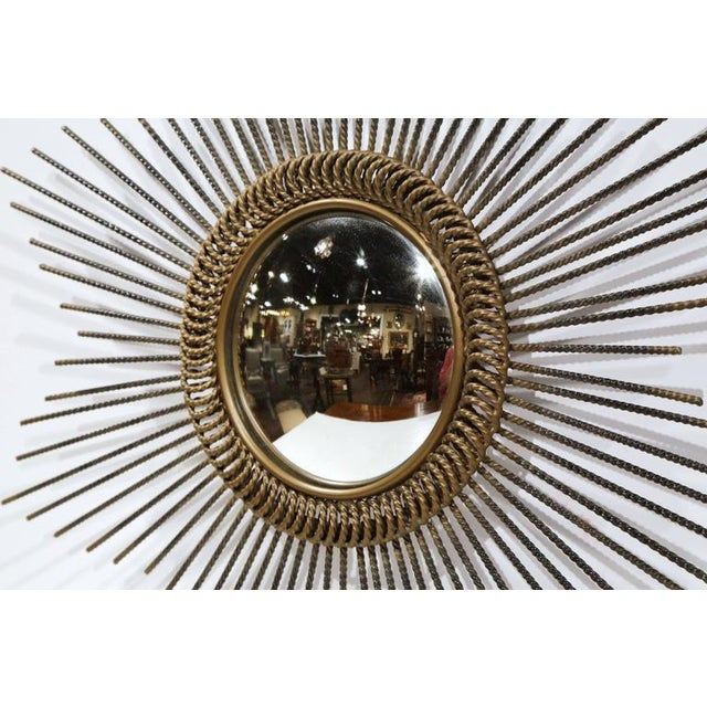 Early 20th Century French Sunburst Mirror With Antique Bronze Finish For Sale - Image 4 of 9