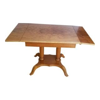 Biedermeier Style Drop Leaf Dining Table