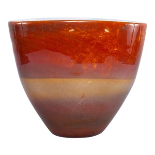 Ermanno Nason for Antonio Da Ros Opaline Murano Glass Bowl For Sale