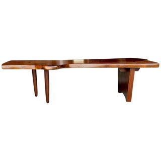Nakashima Style Live Edge Walnut Slab Coffee Table