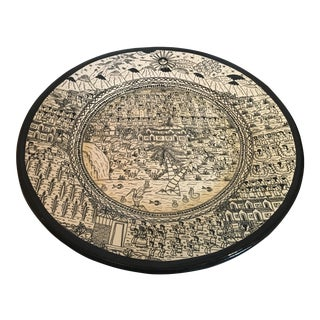 Mexican Folk Art Charger Plate For Sale
