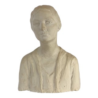 Plaster Bust of Woman by Stephen Beatties For Sale
