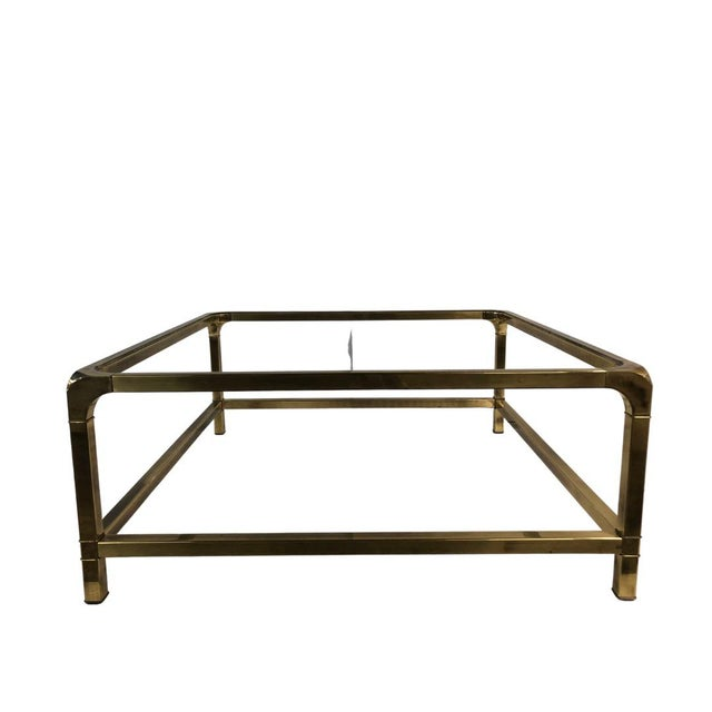 1960s 1960s Modern Mastercraft Brass Coffee Table With Glass Top For Sale - Image 5 of 6