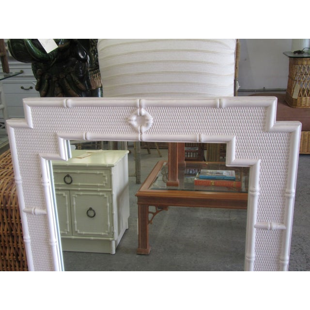 Palm Beach Faux Bamboo Mirror For Sale In West Palm - Image 6 of 7