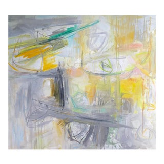 """""""Urban Garden"""" by Trixie Pitts Large Abstract Oil Painting For Sale"""
