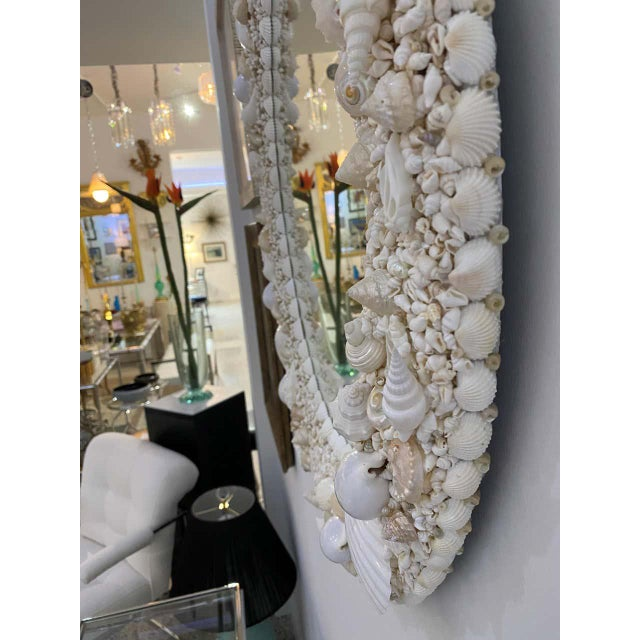 White Seashell Encrusted Mirror bySnob Galeries For Sale - Image 10 of 13