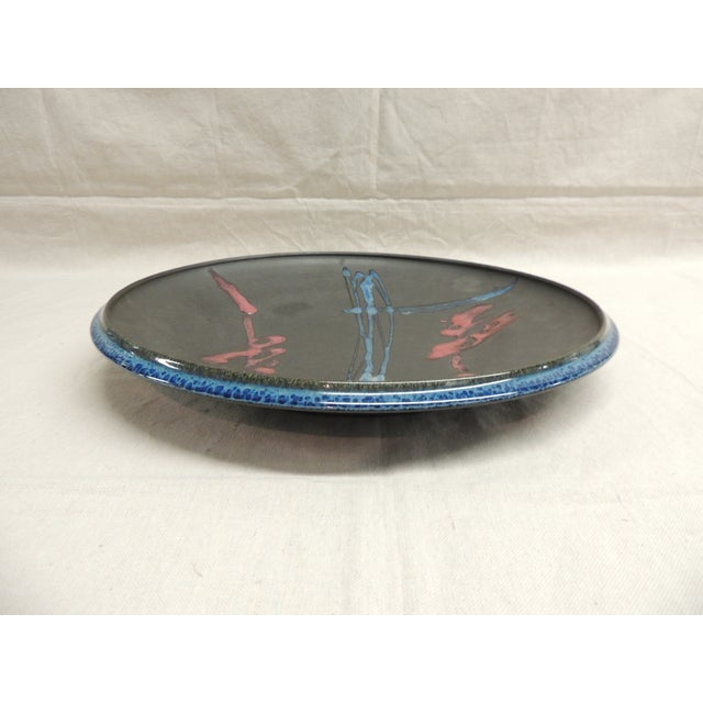 Large Mid-Century Modern Round Wall Sculpture Dish - Image 3 of 4