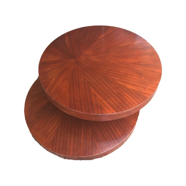 Round Wooden Rotating Coffee Table - Image 3 of 10