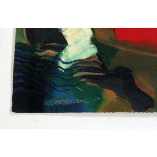 1970s Contemporary Framed Serigraph Signed by Hessam Abrishami Spring Affair 231/395 For Sale - Image 5 of 7