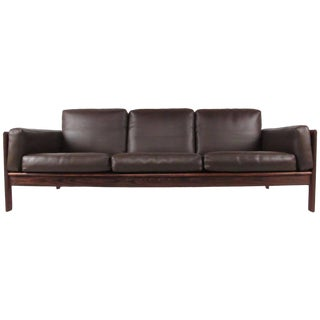 Vintage Modern Rosewood Sofa by Komfort For Sale