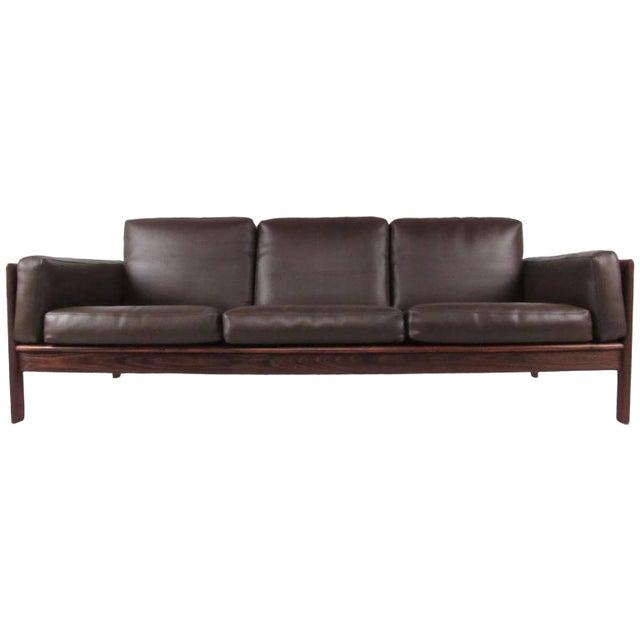 Vintage Modern Rosewood Sofa by Komfort | Chairish