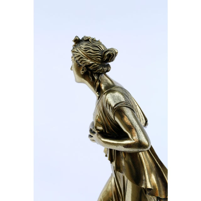 18th Century Neoclassical Bronze Doré Sculpture of a Woman For Sale - Image 4 of 11
