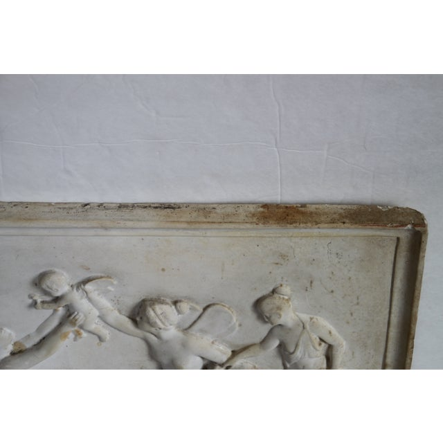 Neoclassical Plaster Relief Cherub Wall Art For Sale - Image 11 of 11