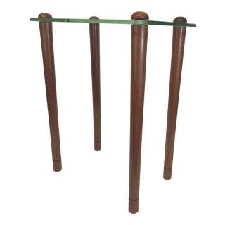 1940s Walnut and Glass Side Table by Gilbert Rohde For Sale