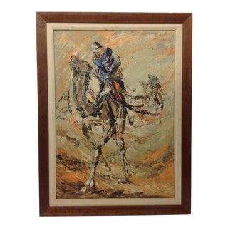 Mid-Century Orientalist Oil Painting For Sale