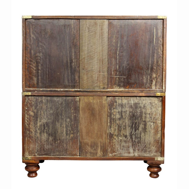 Regency Campaign Mahogany Chest For Sale - Image 10 of 11