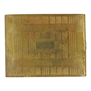 Evans Gold Tone Deco Cigarette Case For Sale