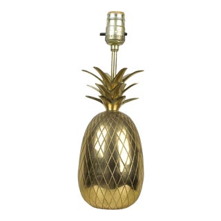 1970s Hollywood Regency Brass Pineapple Lamp