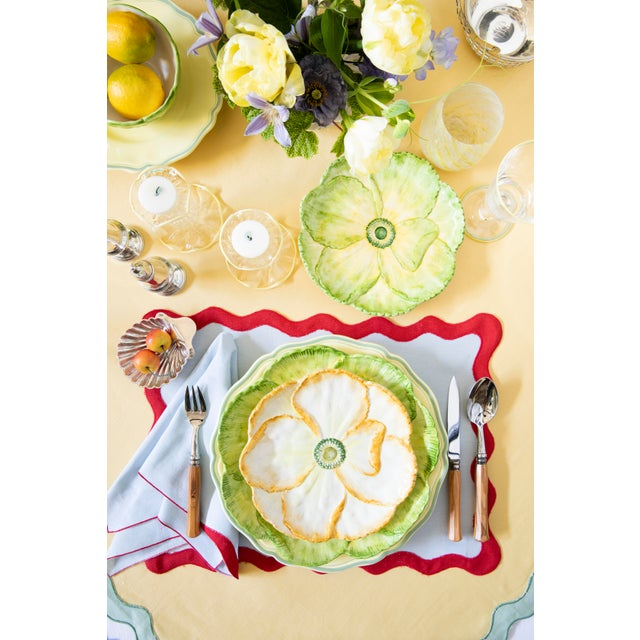 Moda Domus x Chairish Exclusive Dessert Plates in Green, Yellow, and Pink - Set of 6 For Sale - Image 9 of 10