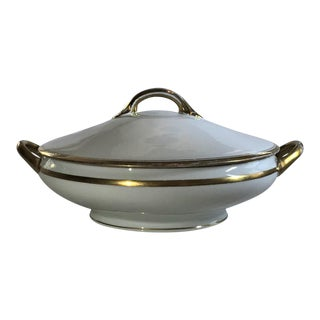 Early 20th Century Noritake Gold Edged Soup Tureen For Sale