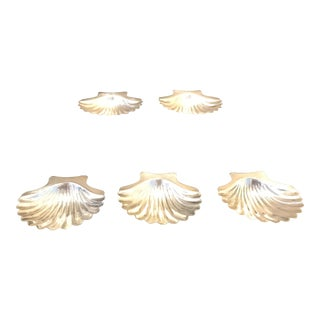 Cartier Sterling Silver Seashell Serving Dishes - Set of 5 For Sale