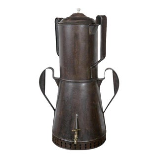 Mid 19th C. Metal Coffee Urn For Sale