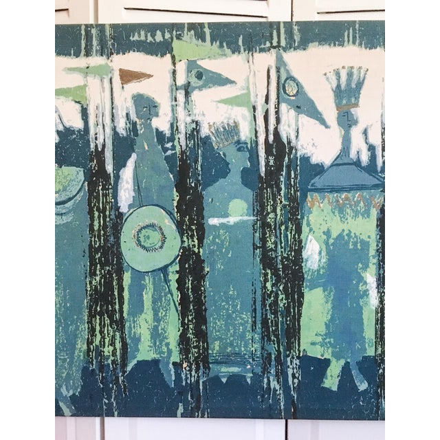 The Age of Kings in Blue Textile Art by Tibor Reich For Sale - Image 5 of 11