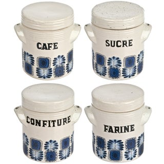 Vintage French Crocks - Set of 4