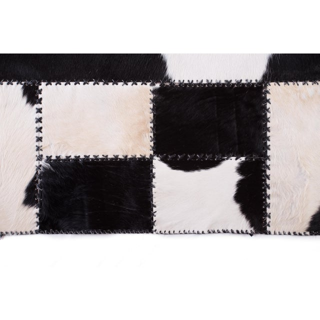 "Aydin Cowhide Patchwork Accent Area Rug - 4'7"" x 8'0"" For Sale - Image 5 of 9"