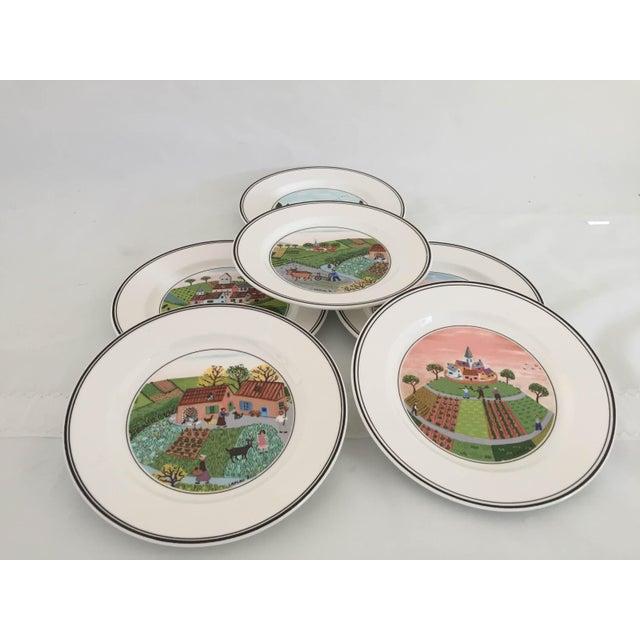 Villeroy & Boch Villeroy & Boch Luxembourg Decorative Bread/Dessert Plates - Set of 6 For Sale - Image 4 of 6