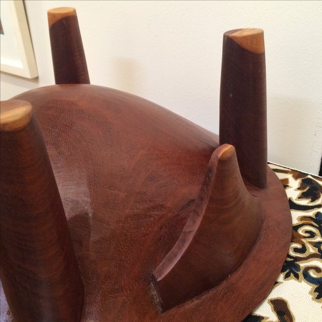 Mid-century Footed Wood Bowl - Image 7 of 7