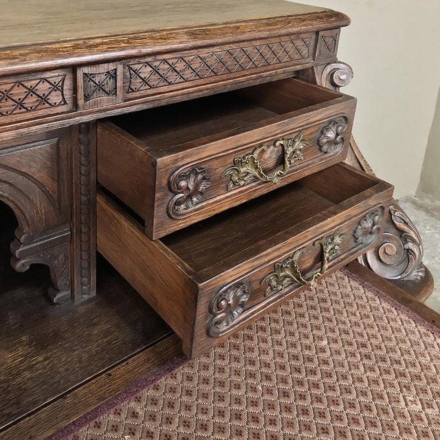 19th Century French Louis XIV Secretary For Sale In Dallas - Image 6 of 13