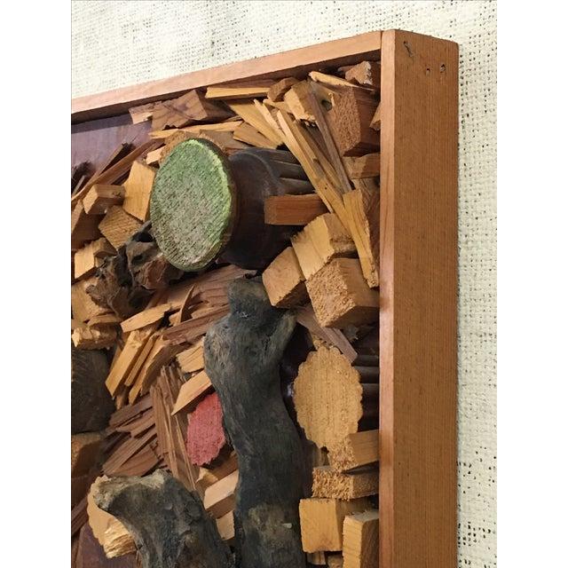 Vintage Brutalist Organic Framed Assemblage - Image 2 of 5